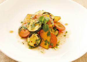 ズッキーニと夏野菜の焼きマリネ
